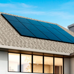 Solar panels on a roof in Florida
